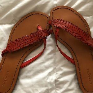 Brand new Coach sandals